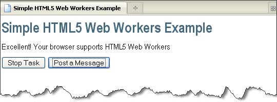 图8-2 检测HTML5 Web Workers支持性的示例