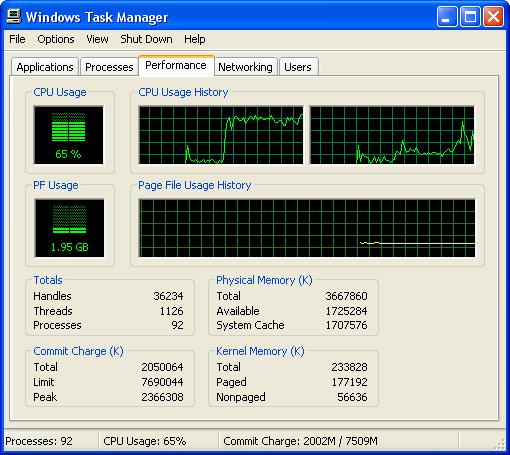 Windows 任务管理器