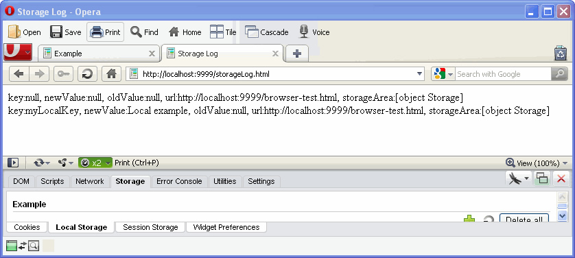 图9-12 记录了storage事件概况的storageLog.html页面