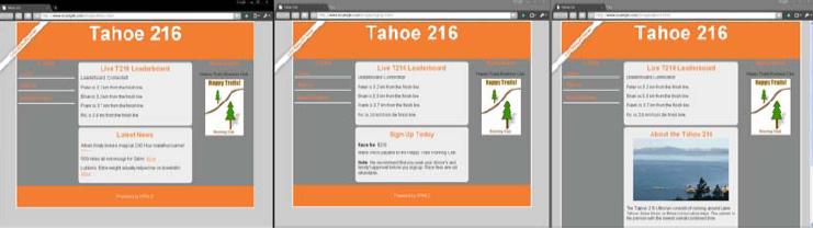 图9-7 跑步网站示例