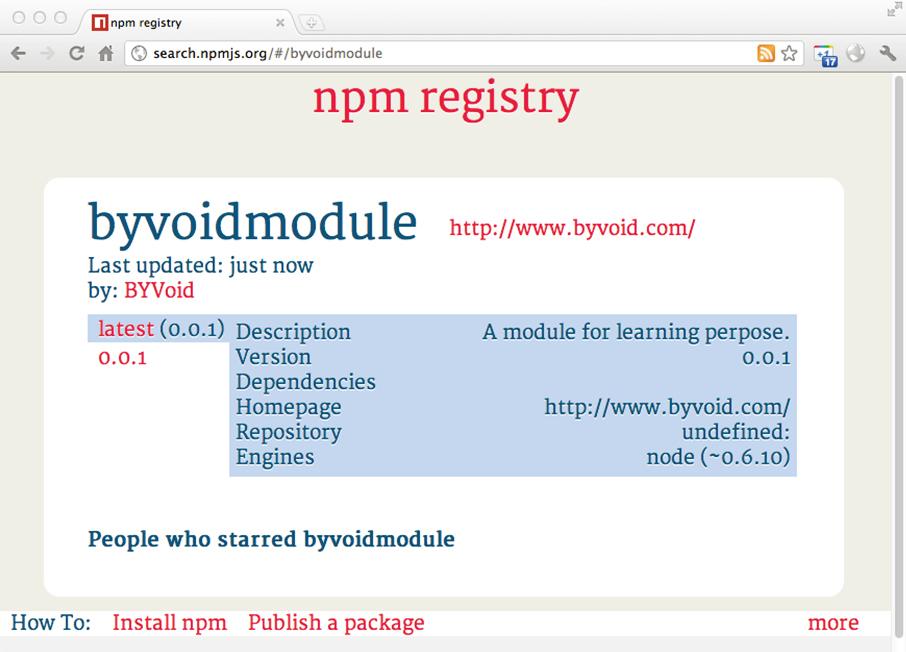 图3-6 在 npm 上发布的包