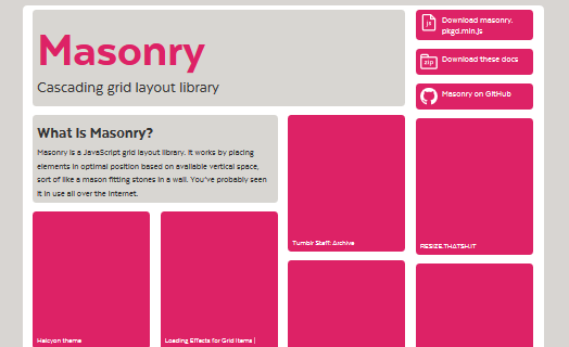 Masonry 轻量级网页瀑布流 JavaScript 插件