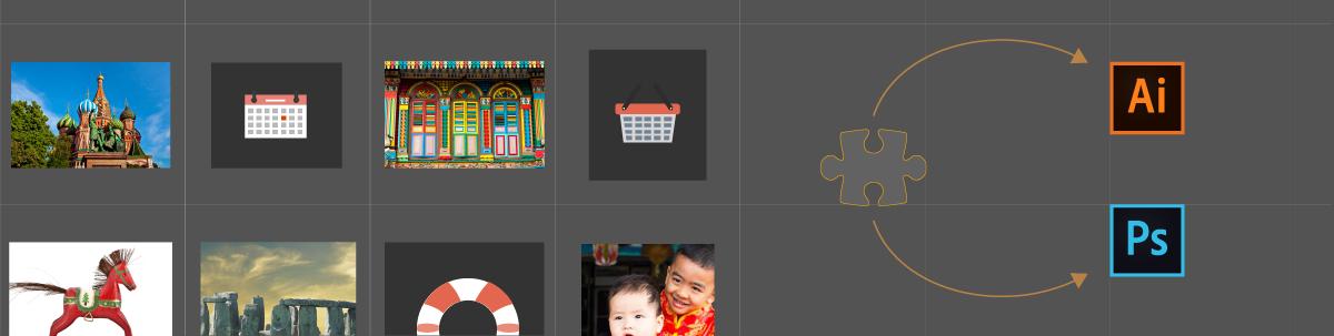 使用 Adobe Bridge 中的 Photoshop 和 Illustrator 扩展