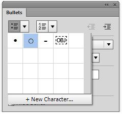 在 Adobe Muse 中,使用项目符号和编号可创建项目符号列表和编号列表。