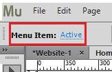菜单项的选择指示符设置
