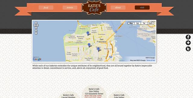 带地图的网页