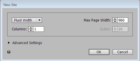 """使用""""新建网站""""对话框创建新网站。"""