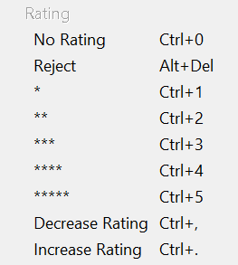 """使用 Bridge 菜单栏中的""""标签""""选项对文件进行评级"""
