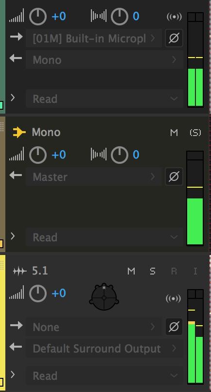 使用针对 Adobe Audition 的基本多轨控件