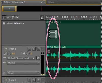 在 Adobe Audition 中导入和使用视频剪辑