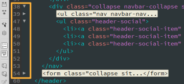 在 Adobe Dreamweaver 中折叠和展开代码