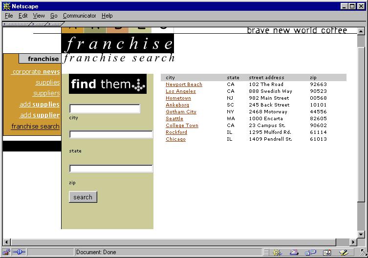在 Adobe Dreamweaver 中显示数据库记录