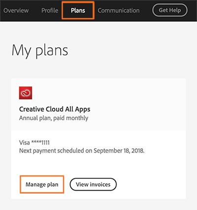 如何取消 Adobe Creative Cloud 计划或会员资格