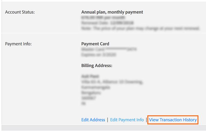打印 Adobe 购买账单副本