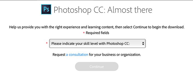 下载并安装 Creative Cloud 试用版
