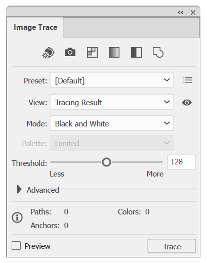 """如何在 Illustrator 中使用""""图像描摹""""编辑图稿"""