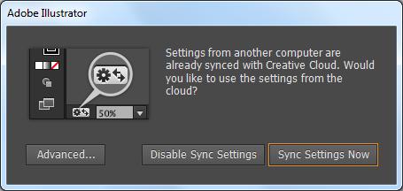 使用 Creative Cloud 同步设置