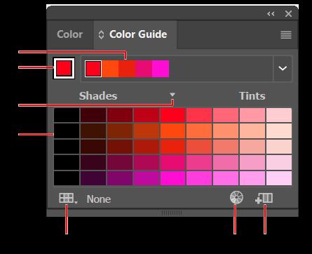 在 Illustrator 中使用颜色组(协调)