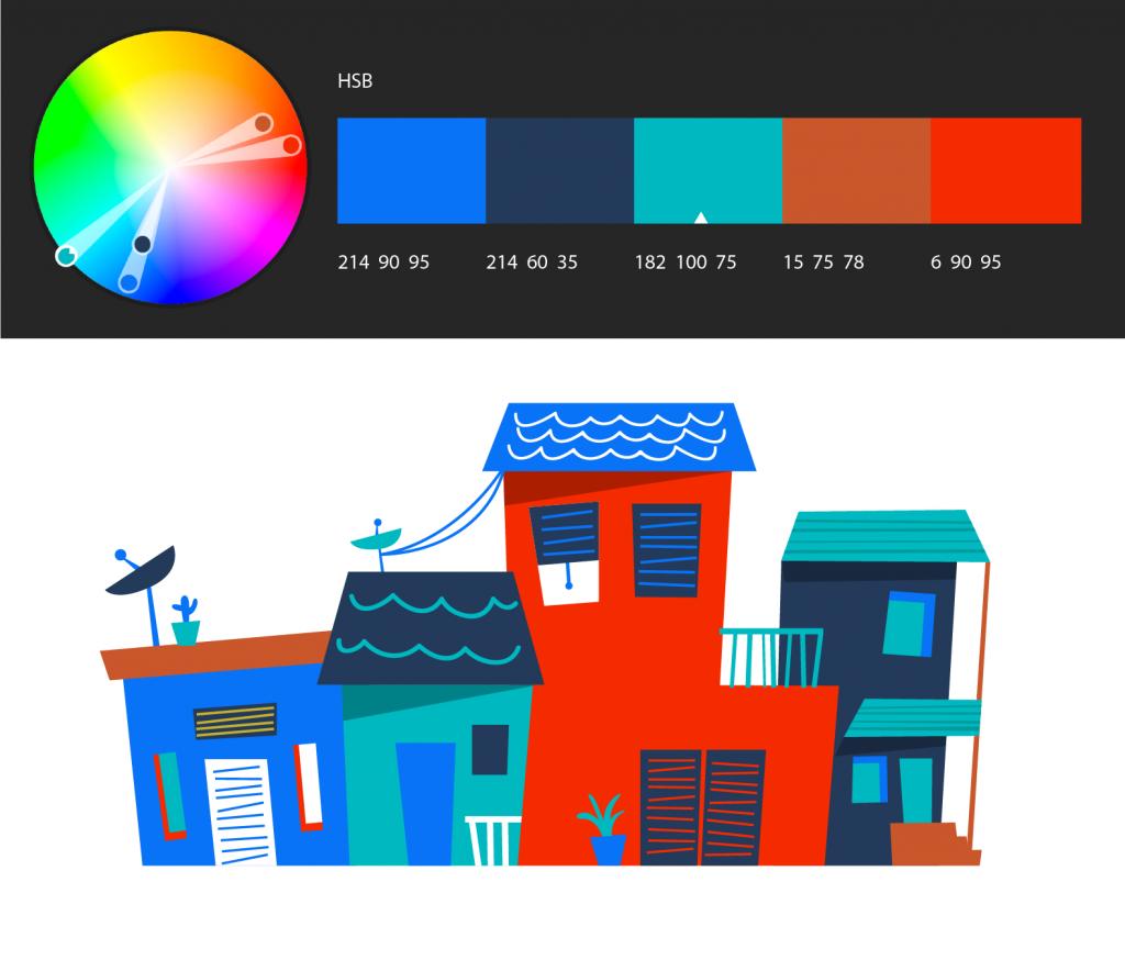 """在 Illustrator 中使用""""Adobe Color 主题""""面板创建颜色主题"""