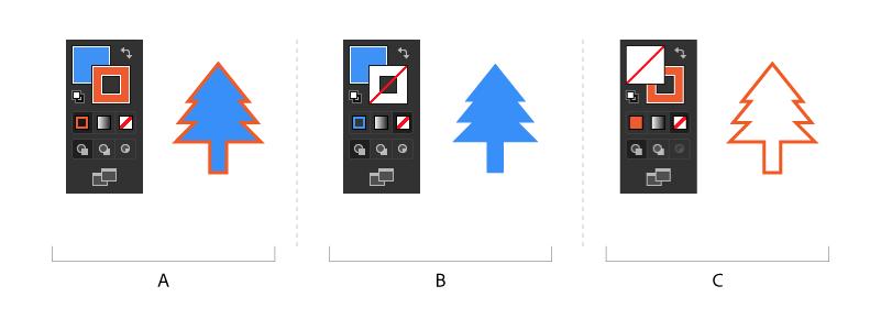 如何在 Illustrator 中使用填色和描边上色