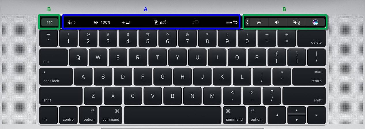 了解如何在 Photoshop 中使用 MacBook Pro Touch Bar。