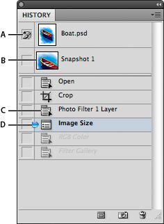 Adobe Photoshop 中的还原/重做和历史记录