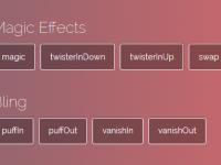 Magic 一个比较魔性的 CSS3 动画库