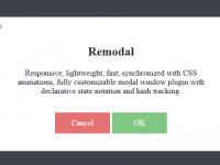 Remodal 轻量级 JavaScript 模态窗口插件