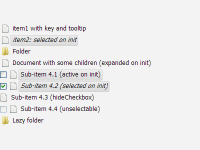 Fancytree 基于 jQuery 动态树形结构插件
