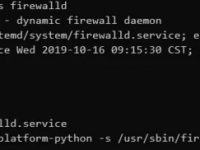 CentOS firewalld 防火墙启动 / 运行 / 停止命令